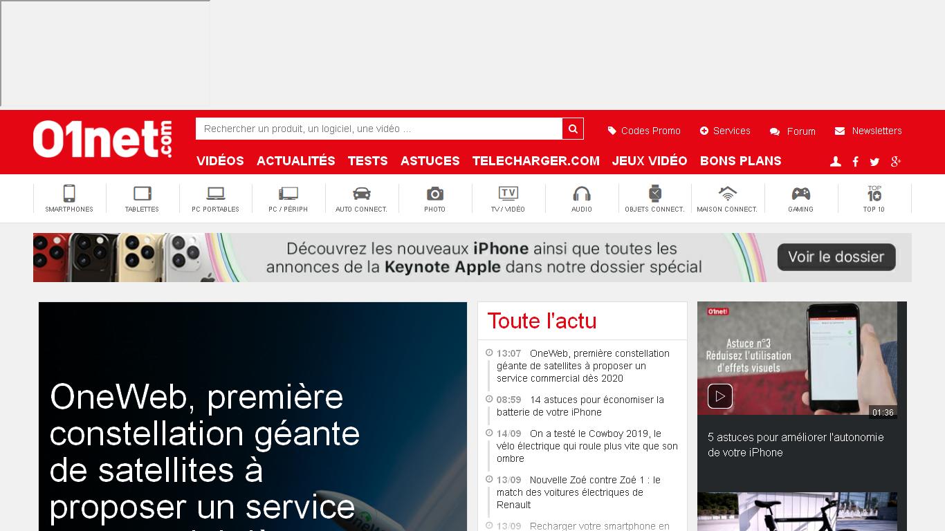 01net.com - Actualité High Tech