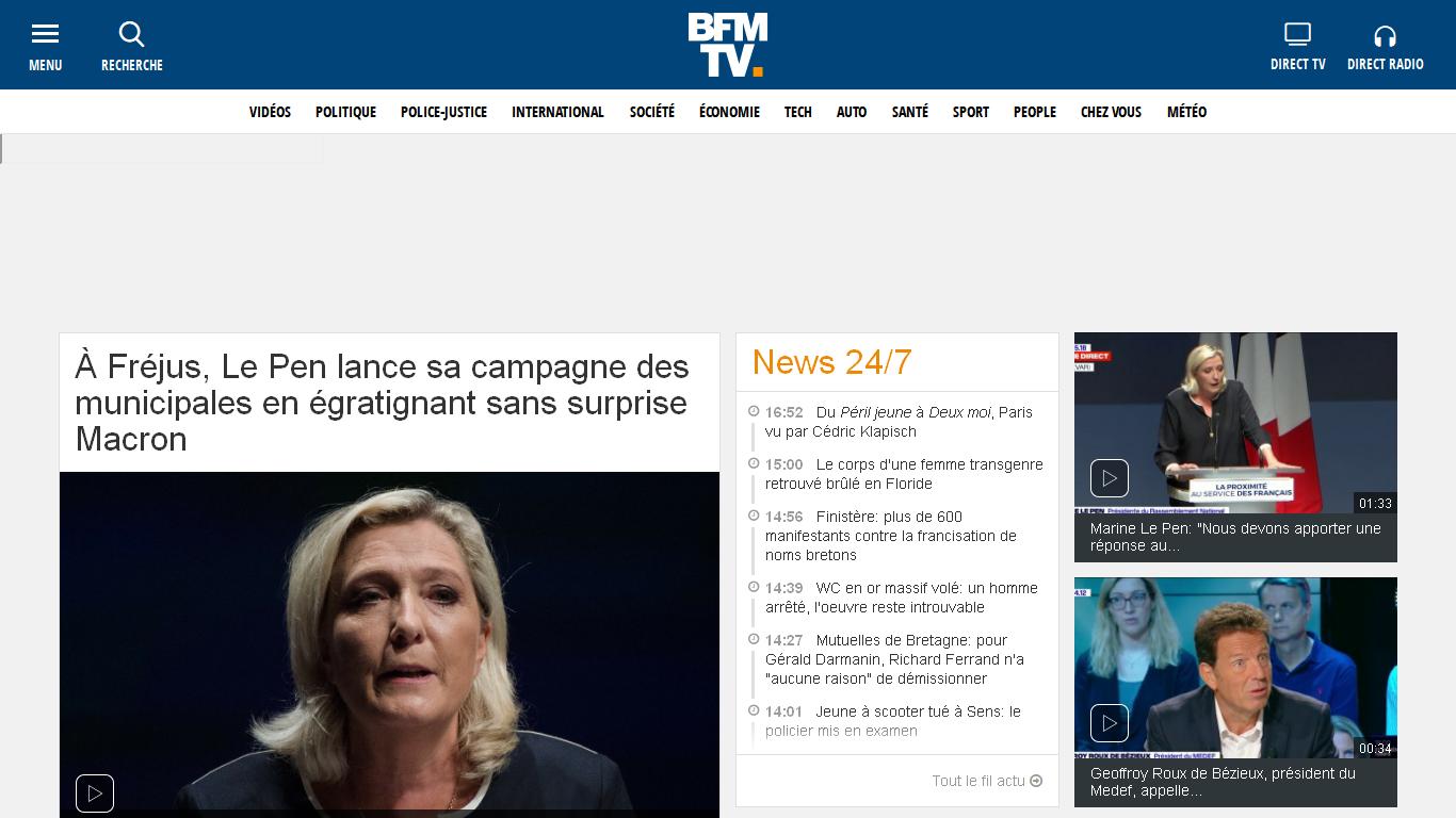 BFMTV - Actualités en continu et info en direct et replay Avis