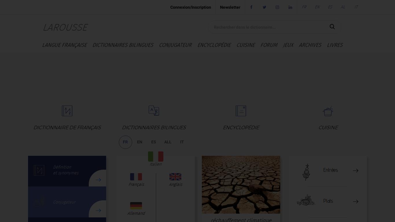 Larousse.fr : encyclopédie et dictionnaires gratuits en ligne Avis